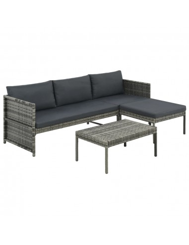 Lauko sofos komplektas, 9d., pilkas, poliratanas   Lauko Baldų Komplektai   duodu.lt