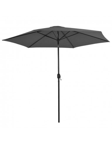 Lauko skėtis su metaliniu stulpu, 300 cm, antracito spalvos   Lauko Skėčiai Ir Tentai   duodu.lt