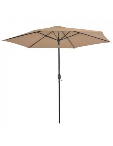 Lauko skėtis su metaliniu stulpu, 300 cm, taupe spalvos   Lauko Skėčiai Ir Tentai   duodu.lt