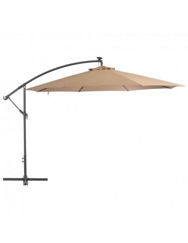 Gembės form. saulės skėtis su alium. stulp., 350cm, taupe sp. | Lauko Skėčiai Ir Tentai | duodu.lt