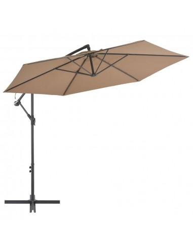 Gembės form. saulės skėtis su alium. stulp., 300 cm, taupe sp. | Lauko Skėčiai Ir Tentai | duodu.lt