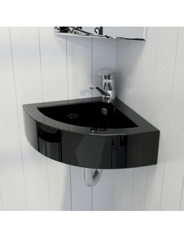 Keramikinis vonios praustuvas, persipylimo/maišytuvo angos, juodas   Vonios praustuvai   duodu.lt