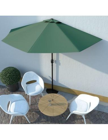 Balkono skėtis su aliuminio stulpu, 300x150cm, žalios sp. | Lauko Skėčiai Ir Tentai | duodu.lt