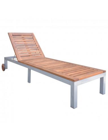 Lauko saulės gultas, akacijos med. masyvas, 207x70x88cm   Šezlongai   duodu.lt