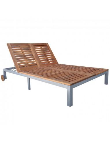 Lauko saulės gultas, dviv., akacijos med. mas., 207x130x88cm | Šezlongai | duodu.lt