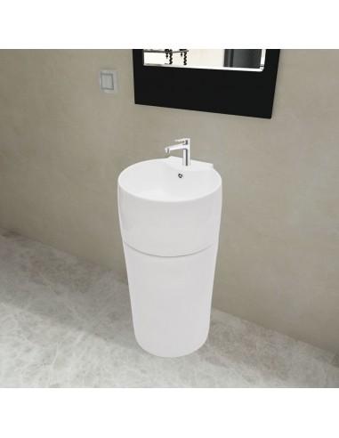 Keramikinis pastatomas vonios praustuvas, baltas, apvalus | Vonios praustuvai | duodu.lt