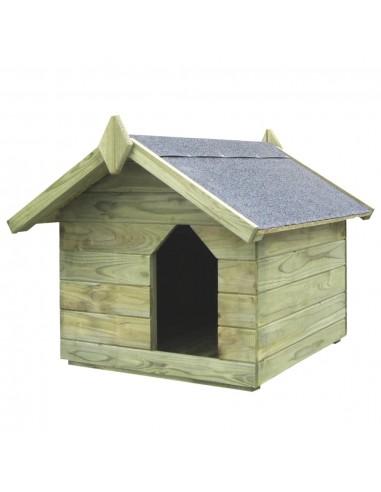 Sodo šuns būda su atidaromu stogu, impregnuota pušies med. | Šunų būdos | duodu.lt