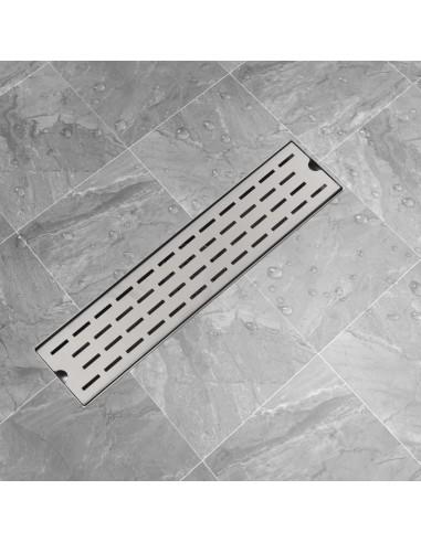 pailgas dušo latakas, nerūdijančio plieno, 530x140 mm | Sifonai | duodu.lt
