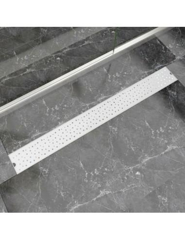 pailgas dušo latakas, nerūdijančio plieno, 1030x140 mm   Sifonai   duodu.lt