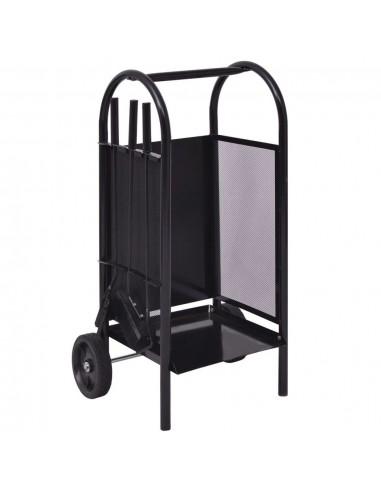 Vežimėlis malkoms, geležis, 35x30x81 cm   Stovai ir Transportavimo Priemonės Malkoms   duodu.lt
