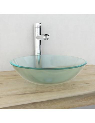 Praustuvas iš grūdinto stiklo, 42 cm, matinis   Vonios praustuvai   duodu.lt