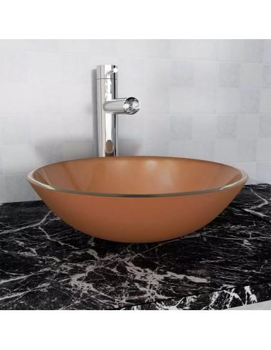 Praustuvas iš grūdinto stiklo, 42 cm, rudas | Vonios praustuvai | duodu.lt