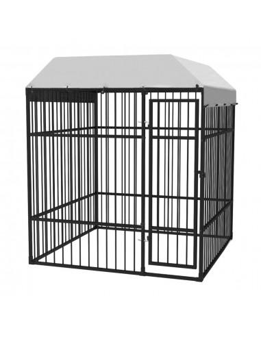 Aukštos kokybės šuns voljeras su stogu, 2x2 m  | Būdos ir voljerai šunims | duodu.lt