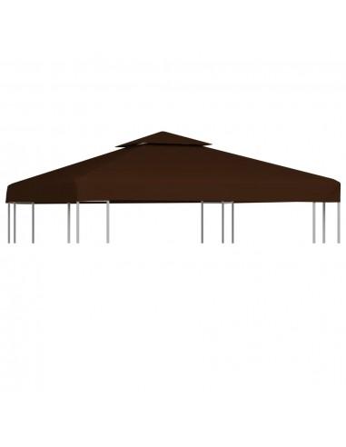 Pavėsinės uždangalas, 2 pakopų, rudas, 3x3m, 310 g/m²   Tentų ir Pavėsinių Stogeliai   duodu.lt