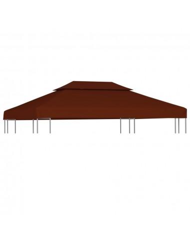 Pavėsinės uždangalas, 2 pakopų, terakota, 4x3m, 310 g/m²   Tentų ir Pavėsinių Stogeliai   duodu.lt
