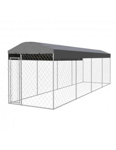 Lauko voljeras šunims su stogu, 8x2m    Būdos ir voljerai šunims   duodu.lt