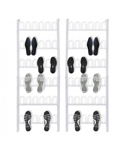 Stovai batams, 18 batų porų, 2 vnt., plieniniai, balti | Sandėliavimas ir Organizavimas | duodu.lt