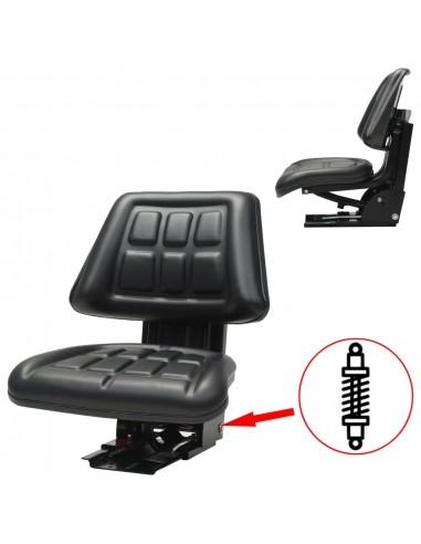 Traktoriaus sėdynė su amortizatoriumi, juoda | Traktorių Dalys ir Priedai | duodu.lt