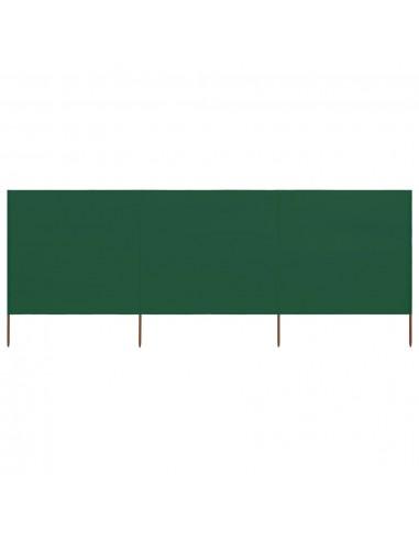 Uždanga nuo vėjo, 3 plokštės, žalios spalvos, 400x80cm, audinys | Lauko Skėčiai Ir Tentai | duodu.lt