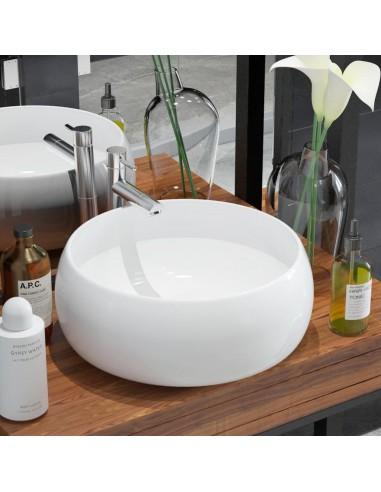 Praustuvas, apvalus, keramika, baltas, 40x16 cm   Vonios praustuvai   duodu.lt