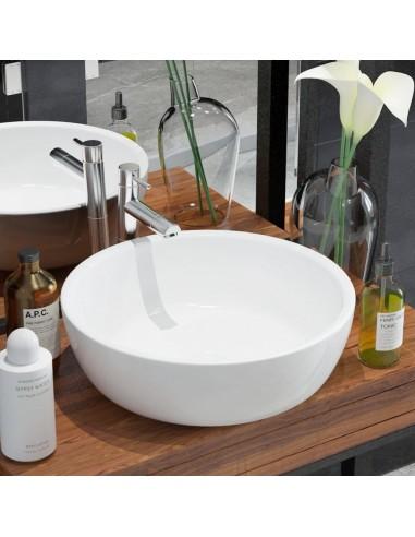 Praustuvas, apvalus, keramika, baltas, 42x12 cm   Vonios praustuvai   duodu.lt