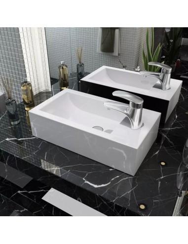 Praustuvas, stačiakampis, keramika, baltas, 46x25,5x12cm   Vonios praustuvai   duodu.lt