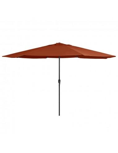 Lauko skėtis su metaliniu stulpu, terakota spalvos, 400cm | Lauko Skėčiai Ir Tentai | duodu.lt