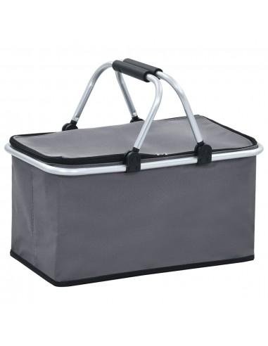 Sulankstomas šaltkrepšis, pilkos spalvos, 46x27x23cm, aliuminis | Hermetiniai maišeliai | duodu.lt