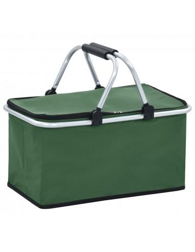 Sulankstomas šaltkrepšis, žalios spalvos, 46x27x23cm, aliuminis | Hermetiniai maišeliai | duodu.lt