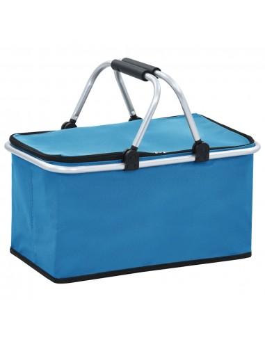 Sulankstomas šaltkrepšis, mėlynas, 46x27x23cm, aliuminis | Hermetiniai maišeliai | duodu.lt