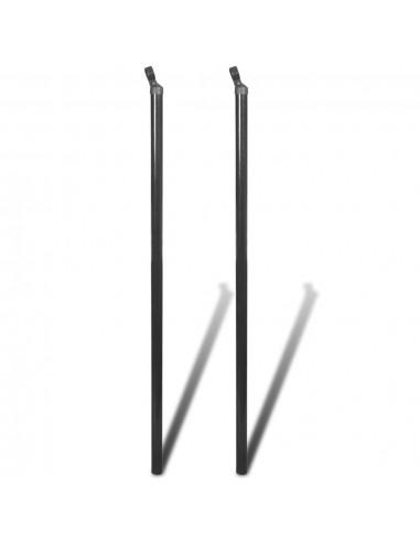 Atraminis tvoros stulpas tinklinei tvorai, 2vnt., 115cm, pilka   Tvoros Stulpai   duodu.lt