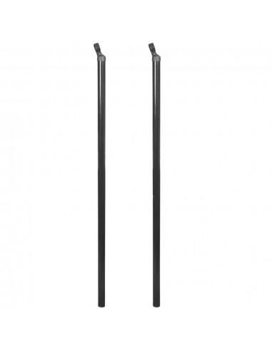 Atraminis tvoros stulpas tinklinei tvorai, 2vnt., 195cm, pilka   Tvoros Stulpai   duodu.lt