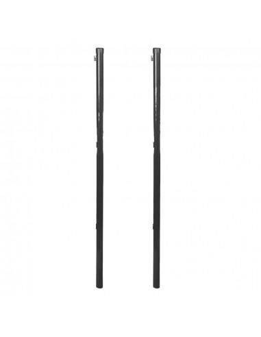 Tvoros stulpas tinklinei tvorai, 2 vnt., 115 cm, pilka | Tvoros Stulpai | duodu.lt