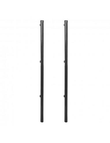 Tvoros stulpas tinklinei tvorai, 2 vnt., 150 cm, pilka   Tvoros Stulpai   duodu.lt