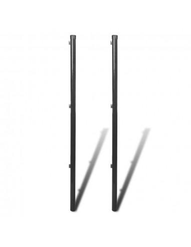 Tvoros stulpas tinklinei tvorai, 2 vnt., 170 cm, pilka | Tvoros Stulpai | duodu.lt