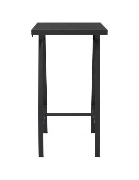 Valgomojo komplektas, 9 dalių, juodos spalvos, dirbtinė oda  | Virtuvės ir Valgomojo Baldų Komplektai | duodu.lt