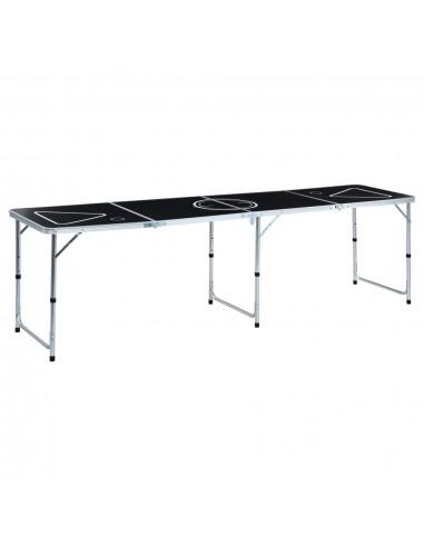 Beer Pong žaidimo stalas, juodas, 240 cm, sulankstomas   Beer pong stalai   duodu.lt