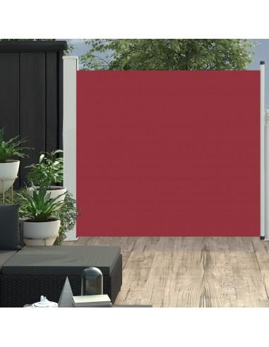 Ištraukiama šoninė kiemo pertvara, raudonos spalvos, 170x300cm | Lauko Skėčiai Ir Tentai | duodu.lt