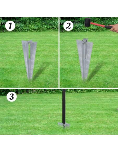 Metalo detektorius su kastuvu, 160 cm | Metalo Detektoriai | duodu.lt