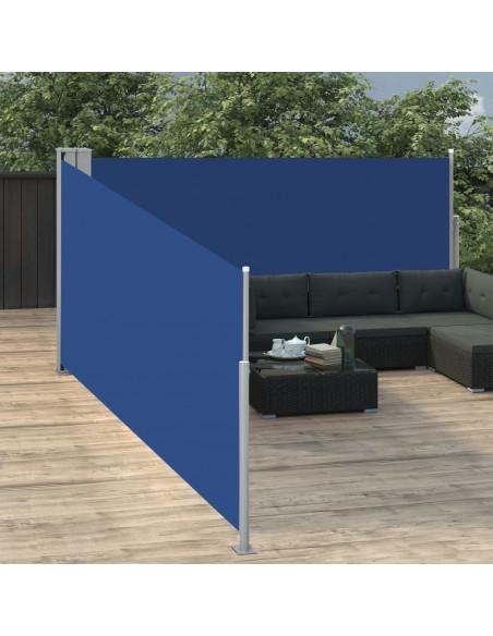 Markizė su vėjo jutikliu ir LED, mėlyna ir balta, 450x300cm | Langų ir durų markizės | duodu.lt