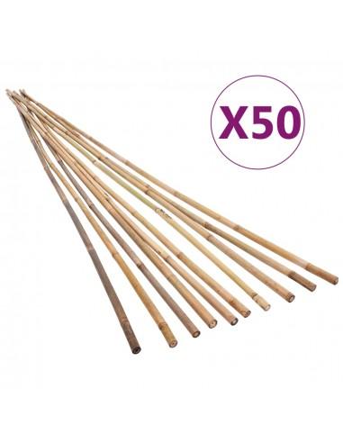 Bambukiniai sodo kuoliukai, 50vnt., 120cm | Atramos ir grotelės augalams | duodu.lt