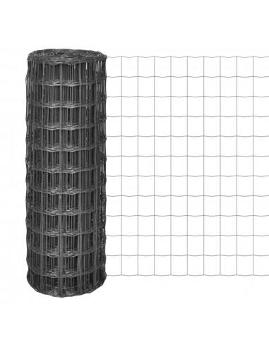 Euro tvora, 25x1m su 77x64mm plieniniu tinkleliu, pilka | Tvoros Segmentai | duodu.lt