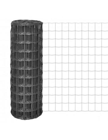 Euro tvora, 25x1,5m su 77x64mm plieniniu tinkleliu, pilka | Tvoros Segmentai | duodu.lt