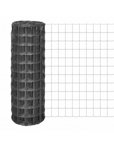 Euro tvora, 25x1,7m su 77x64mm plieniniu tinkleliu, pilka   Tvoros Segmentai   duodu.lt