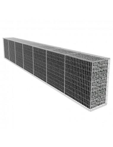Gabiono siena su dangčiu 600 x 50 x 100 cm | Sodininkystė | duodu.lt