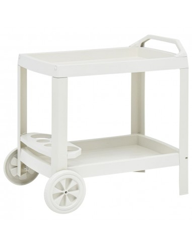 Gėrimų vežimėlis, baltos spalvos, 69x53x72cm, plastikas | Virtuvės ir Valgomojo Staliukai ant Ratukų | duodu.lt