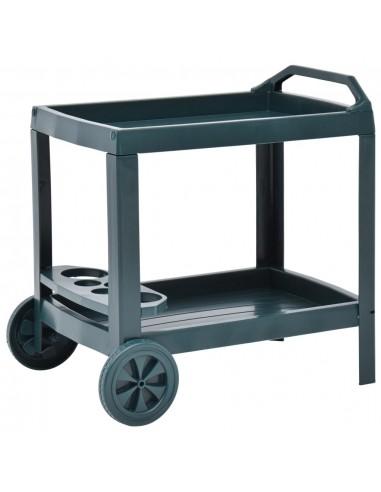 Gėrimų vežimėlis, žalios spalvos, 69x53x72cm, plastikas   Virtuvės ir Valgomojo Staliukai ant Ratukų   duodu.lt