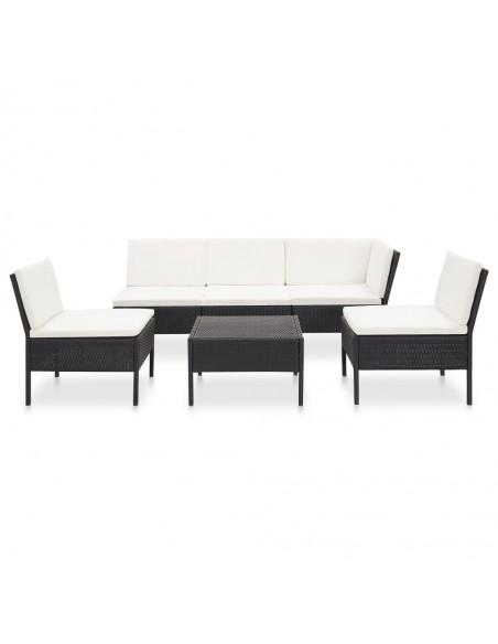 Sodo baldų komplektas iš palečių, 5 dalių, baltas, mediena | Lauko Baldų Komplektai | duodu.lt