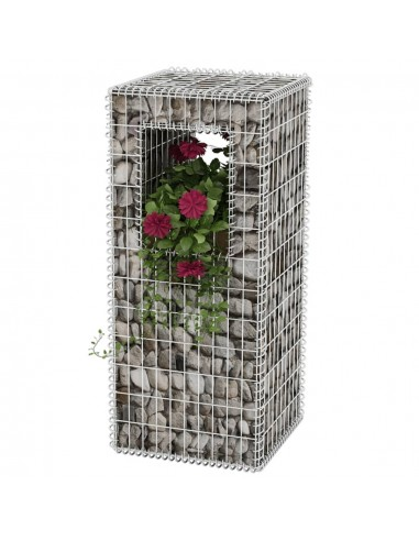 Gabionas, kolona/vazonas, plienas, 50x50x120 cm | Tvoros Stulpai | duodu.lt