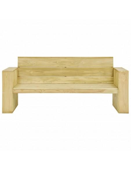 Sodo otomanė iš paletės su smėlio spalvos pagalvėle, mediena  | Lauko Pufai | duodu.lt